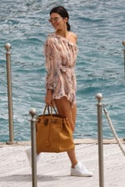 Kendall Jenner Leaves Eden Roc in Cannes
