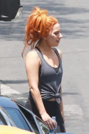 LADY GAGA on the Set of A Star is Born in Silver Lake
