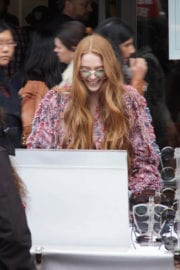 Larsen Thompson Out and About in New York