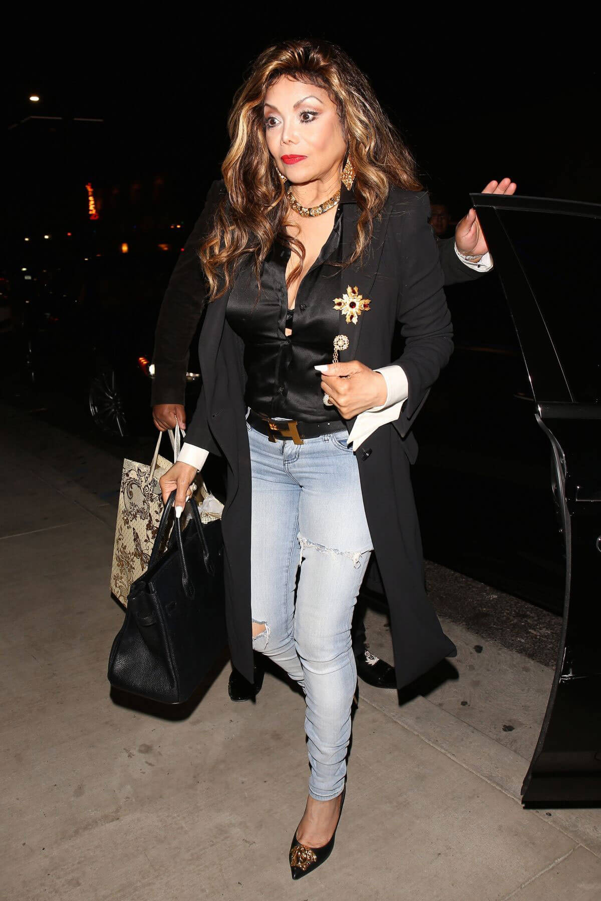 LaToya Jackson Arrives at TAO in Hollywood