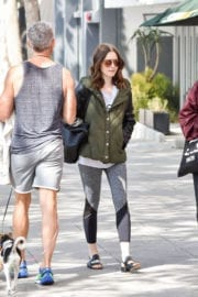 Lily Collins Leaves a Gym in Los Angeles