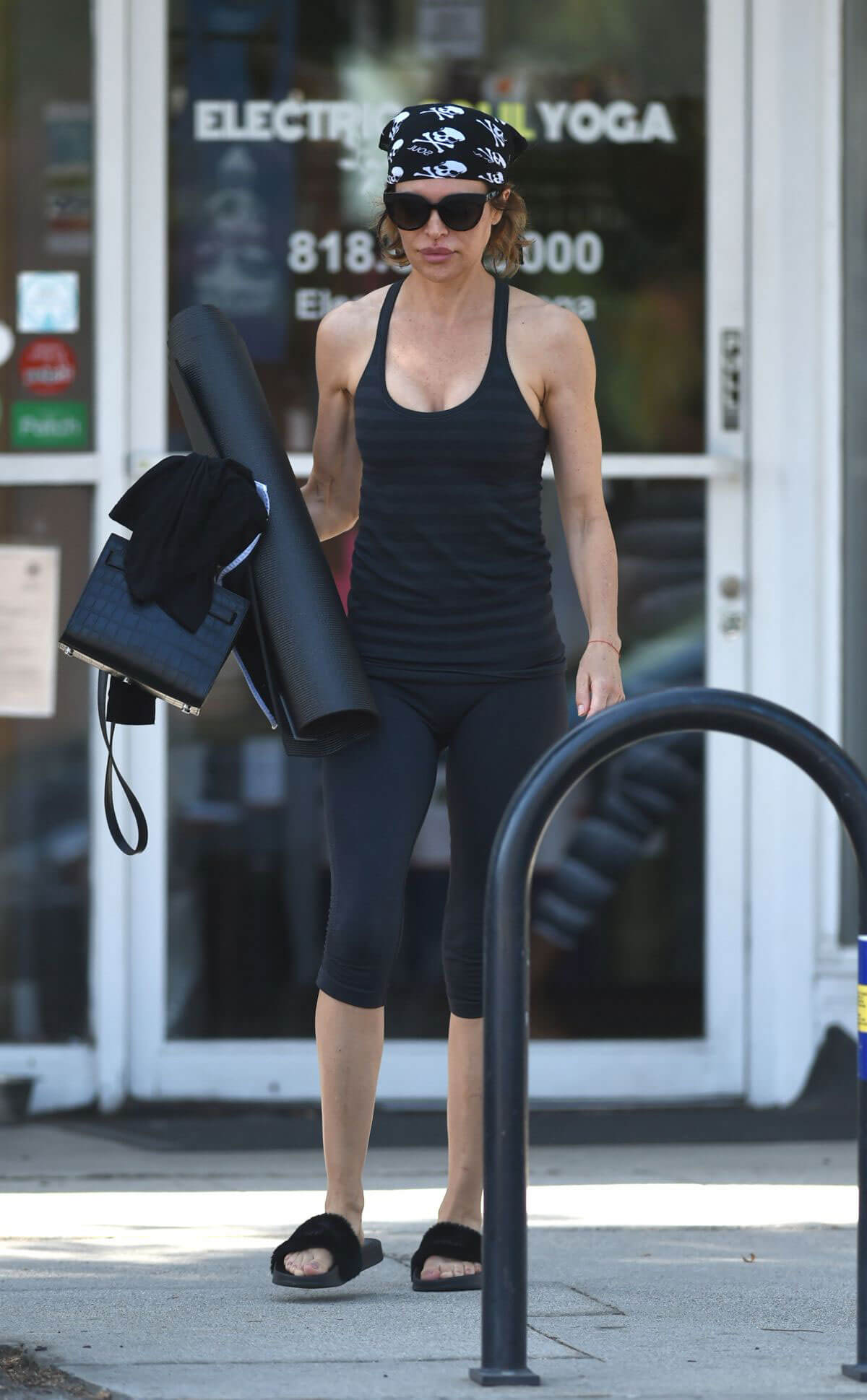 LISA RINNA Leaves Yoga Class in Los Angeles