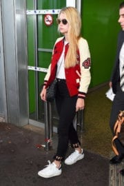 LOTTIE MOSS Arrives at Airport in Nice