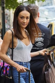 MAGGIE Q Leaves Her Hotel in New York