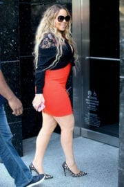 Mariah Carey Arrives at MGM Building in Beverly Hills