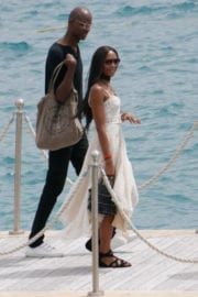 Naomi Campbell Leaves Eden Roc Hotel in Cannes