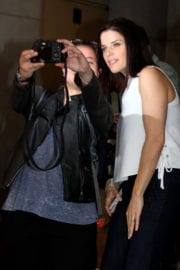 NEVE CAMPBELL Leaves Today Show in New York