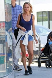 NICOLE RICHIE in Denim Shorts Out in Los Angeles