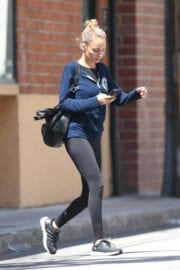 NICOLE RICHIE Leaves a Gym in Los Angeles
