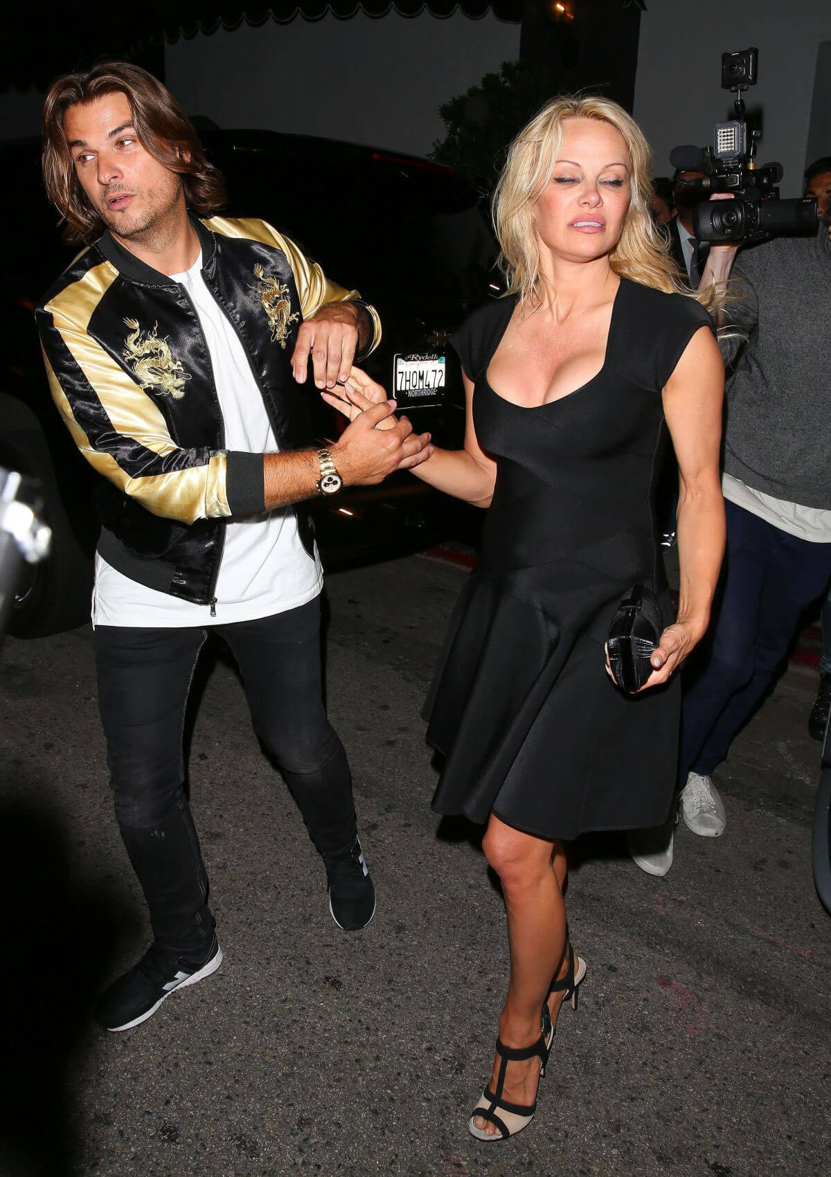 PAMELA ANDERSON Leaves Avenue Nightclub in Los Angeles