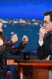 SALMA HAYEK at Late Show with Stephen Colbert