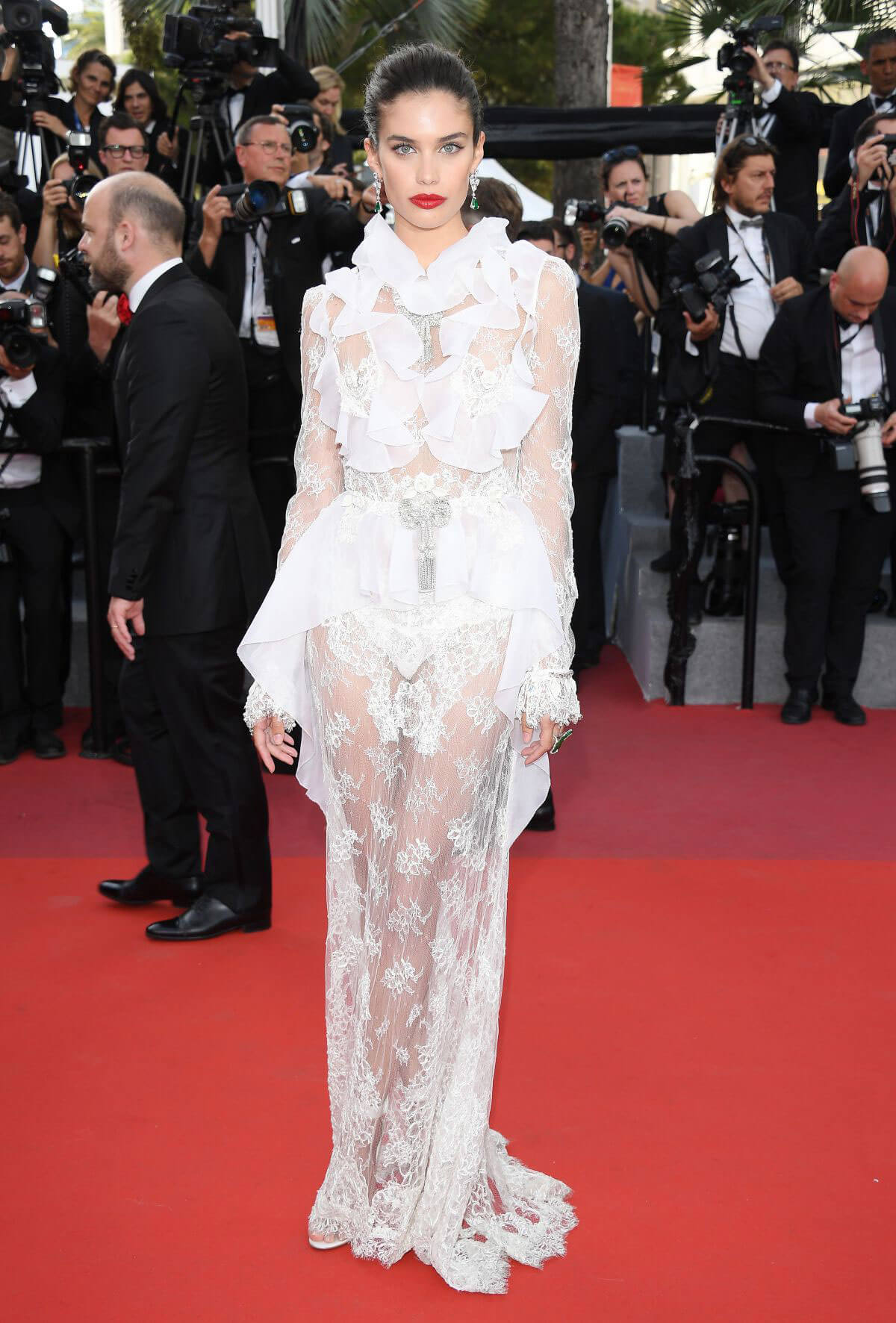 SARA SAMPAIO at The Killing of a Sacred Deer Premiere at 70th Annual Cannes Film Festival