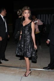 SARAH HYLAND Arrives at Moschino Spring Summer Party