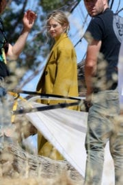 SHAILENE WOODLEY on the Set of a Photoshoot at Elysian Park in Los Angeles