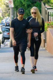 SOPHIE TURNER and Joe Jonas Out Hiking at Runyon Canyon Park in Hollywood Hills