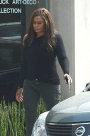 TINA KNOWLES Out Shopping in Beverly Hills