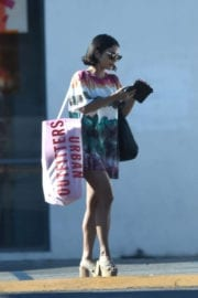 VANESSA HUDGENS Leaves Urban Outfitters in Los Angeles