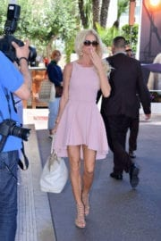 VICTORIA SILVSTEDT Arrives at Martinez Hotel in Cannes