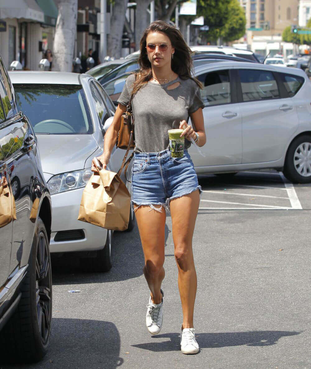 Alessandra Ambrosio Stills at Urth Cafe in Beverly Hills Images