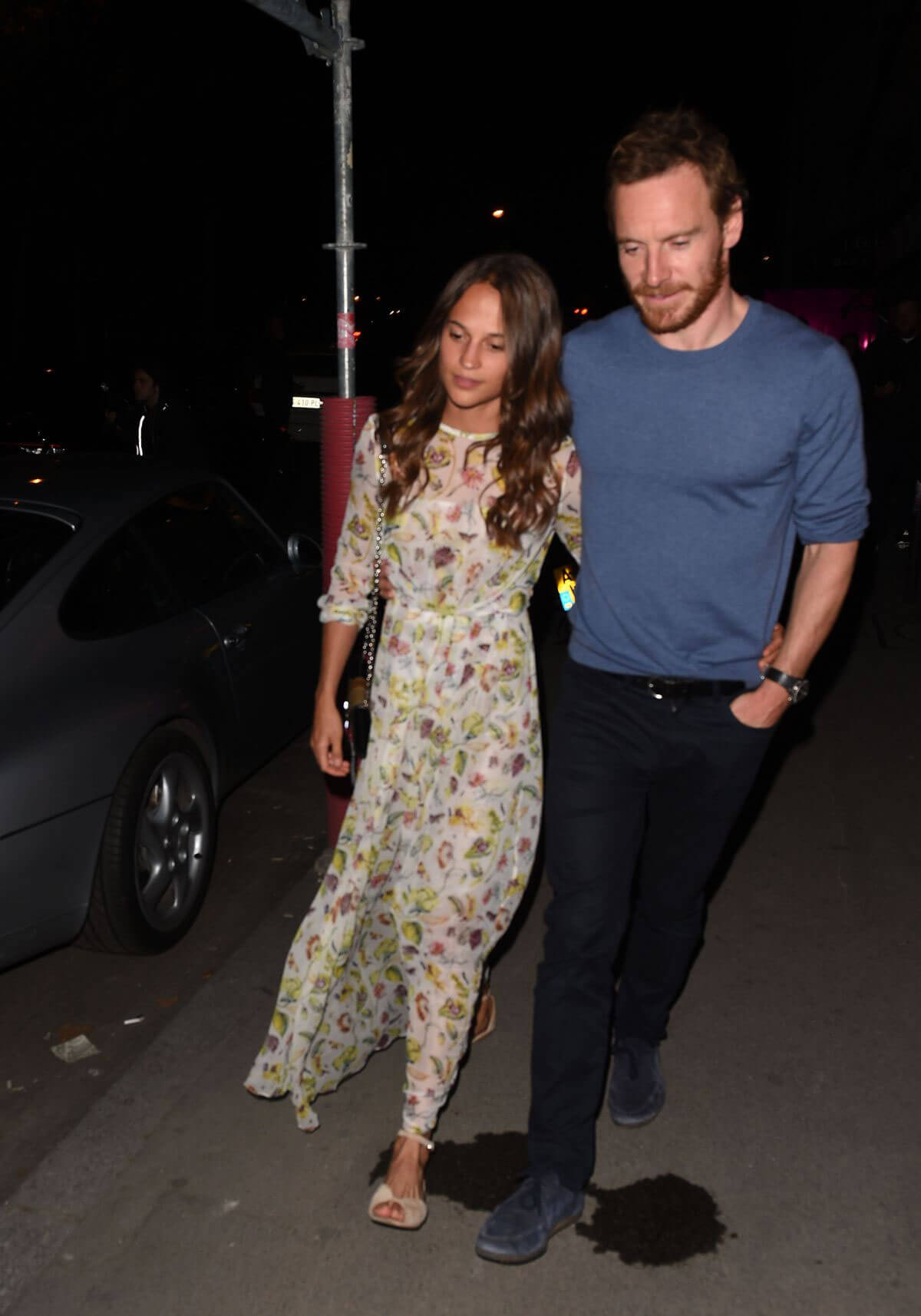 Alicia Vikander and Michael Fassbender Stills Out in Paris