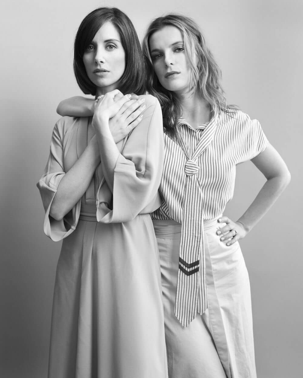 Alison Brie and Betty Gilpin Photoshoot for W Magazine July 2017