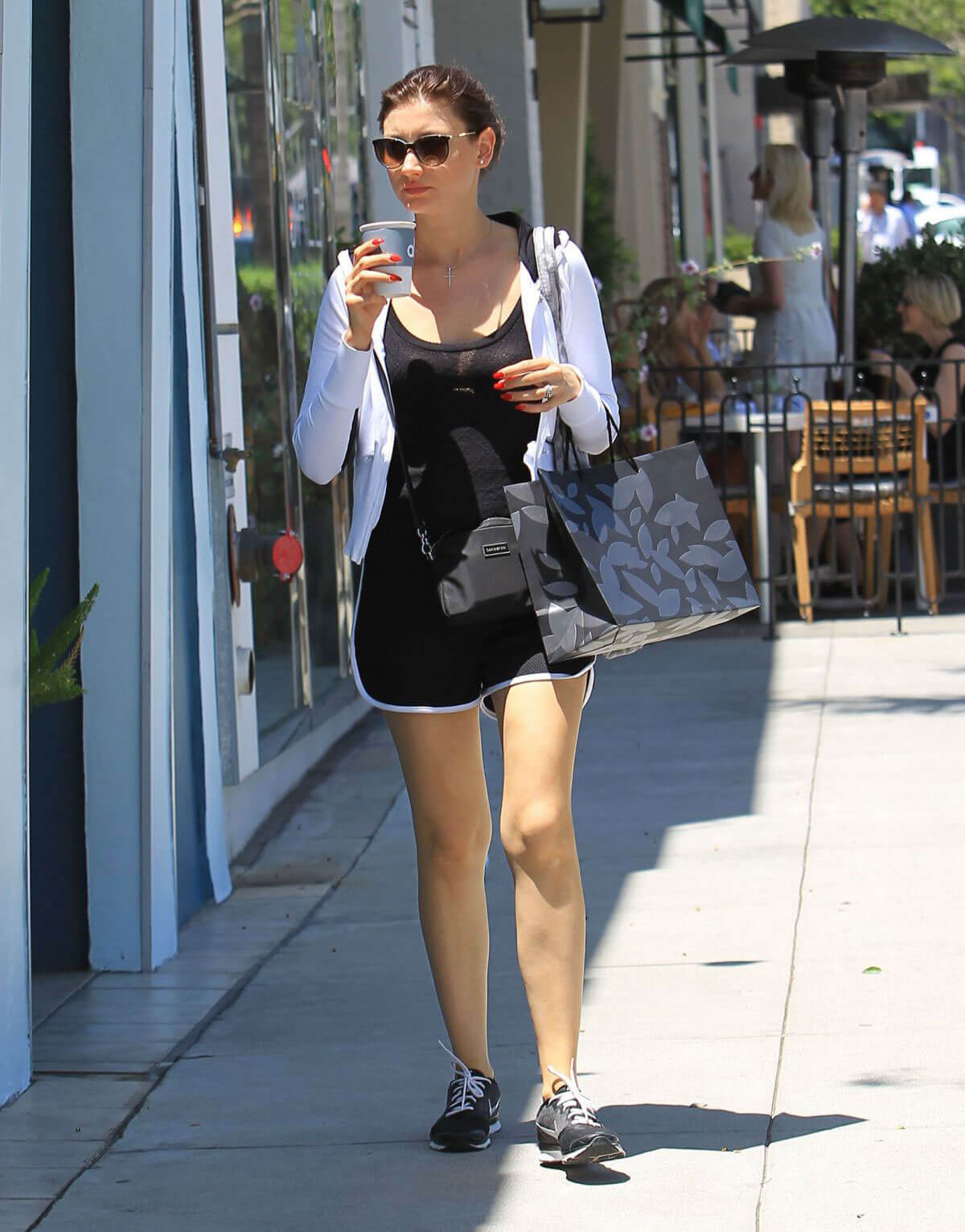 Aly Michalka Stills Out in Los Angeles