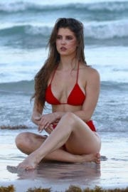 Amanda Cerny in Bikini on the Beach in Miami Photos