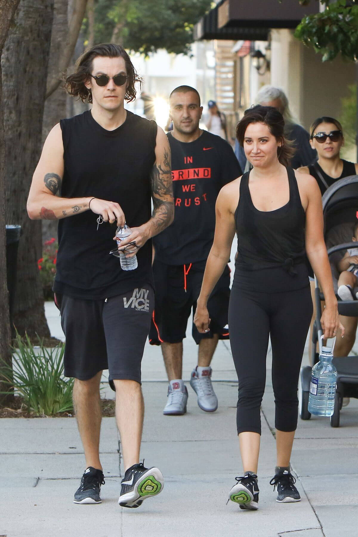 Ashley Tisdale and Christopher French Heading to a Gym in Studio City Photos