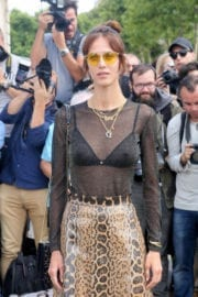 Aymeline Valade Stills at Christian Dior Show at Haute Couture Fashion Week in Paris