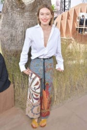 Camille Rowe Stills at Christian Dior Show at Haute Couture Fashion Week in Paris