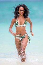Candace Smith in Bikini at a Beach in Lanikai Photos