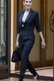 Celine Dion Stills at Royal Monceau Hotel in Paris Images