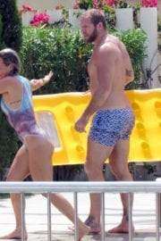 Chloe Madeley in Swimsuit at a Pool in Ibiza Images