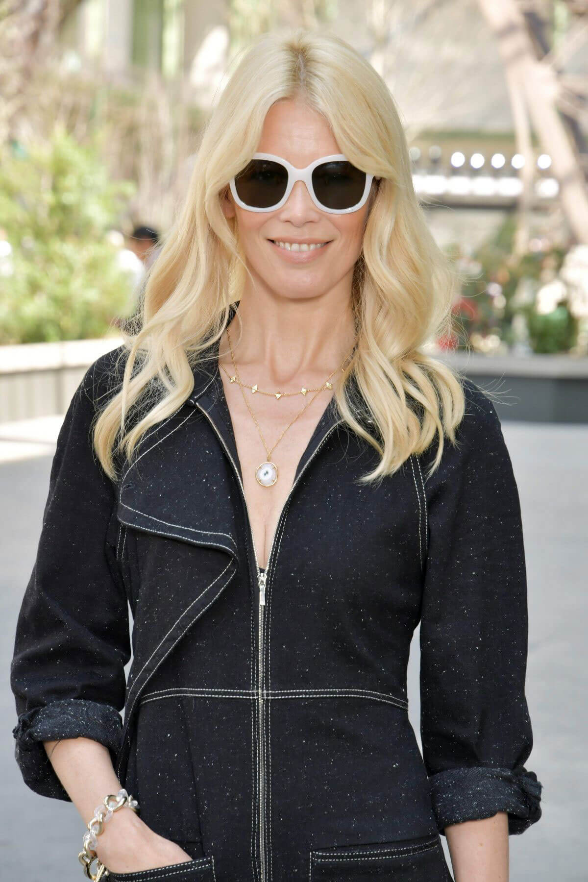 Claudia Schiffer Stills at Chanel Fashion Show at Haute Couture Paris Fashion Week