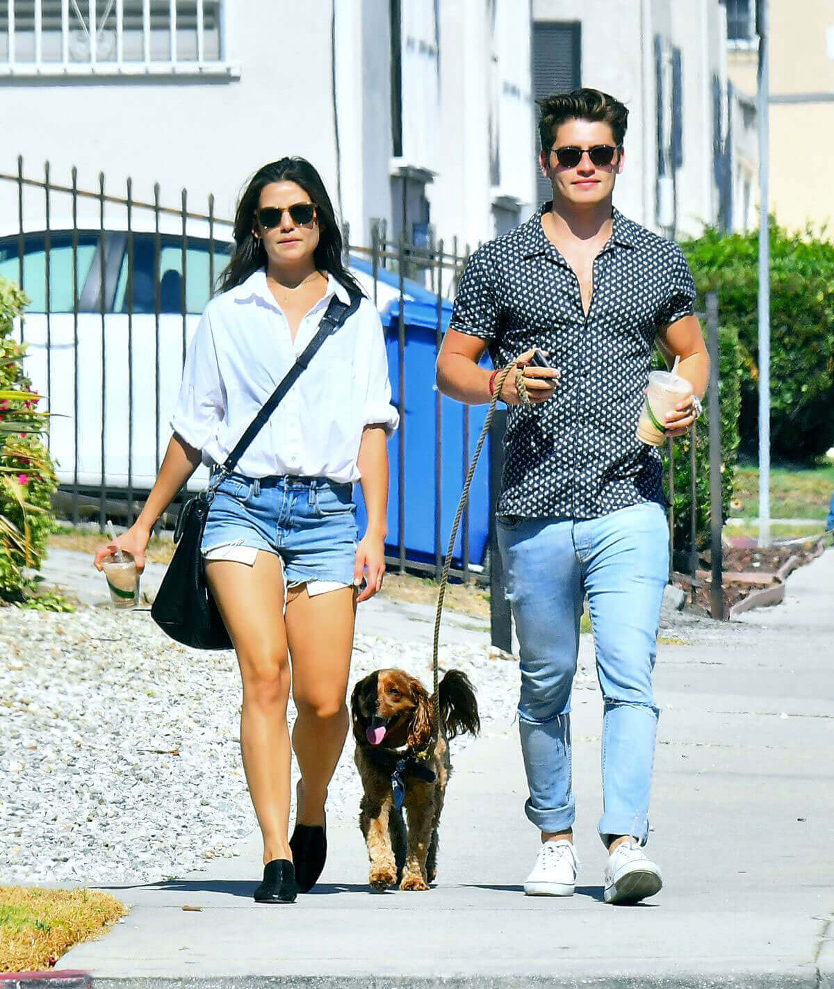 Danielle Campbell and Gregg Sulkin Stills Out in Los Angeles