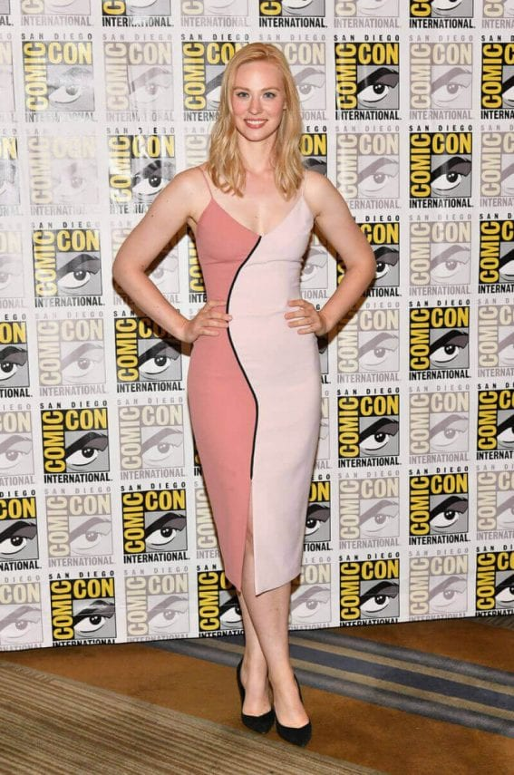 Deborah Ann Woll at The Defenders Press Line at Comic-con in San Diego Photos