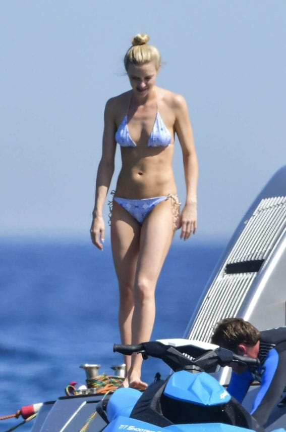 Elle Evans Stills in Bikini at a Yacht in St. Tropez