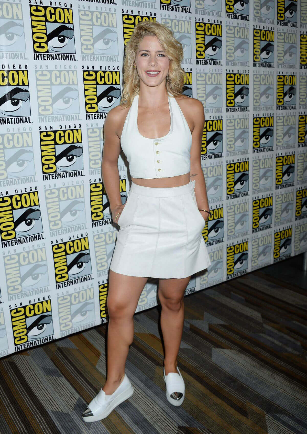 Emily Bett Rickards Stills at Arrow Press Line at Comic-con in San Diego