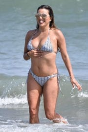 Eva Longoria Stills in Bikini at a Beach in Marbella