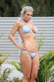 Frankie Essex in Bikini at a Pool in Ibiza Images