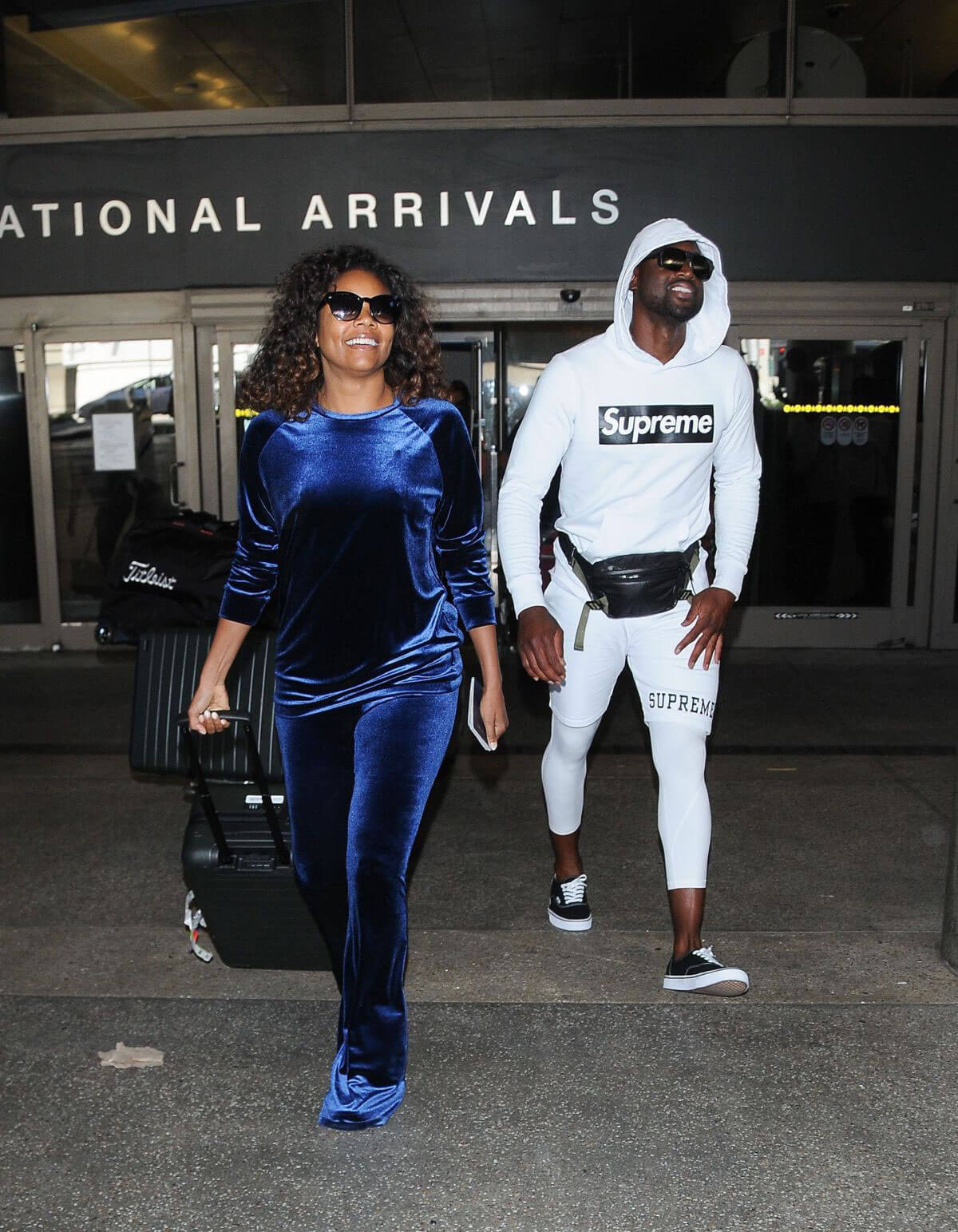 Gabrielle Union and Dwyane Wade Stills at ALX Airport in Los Angeles