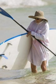 Glenn Close Stills Paddleboarding in Barbados