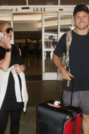 Heidi Montag and Spencer Pratt at LAX Airport in Los Angeles