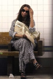 Iman Photos at a Train Station in New York