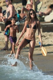 Izabel Goulart Stills in Bikini on the Beach in Mykonos