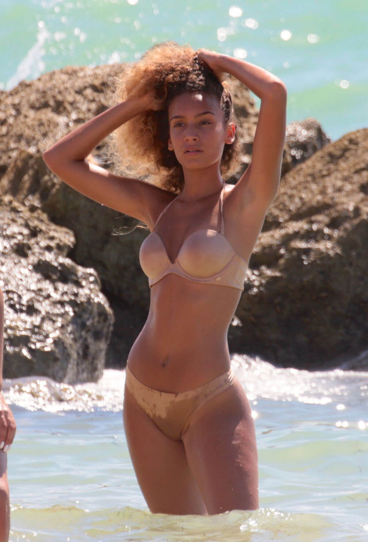 J Lynne in Bikini at a Beach in Miami Photos