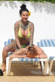 Jemma Lucy and ZaraLena Jackson in Bikinis at a Pool in Portugal Photos