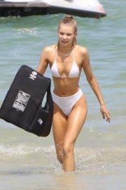 Jose Canseco in Bikini at a Beach in Miami Photos