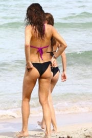 Julia Pereira and Carla Pereira in Bikinis at a Beach in Miami