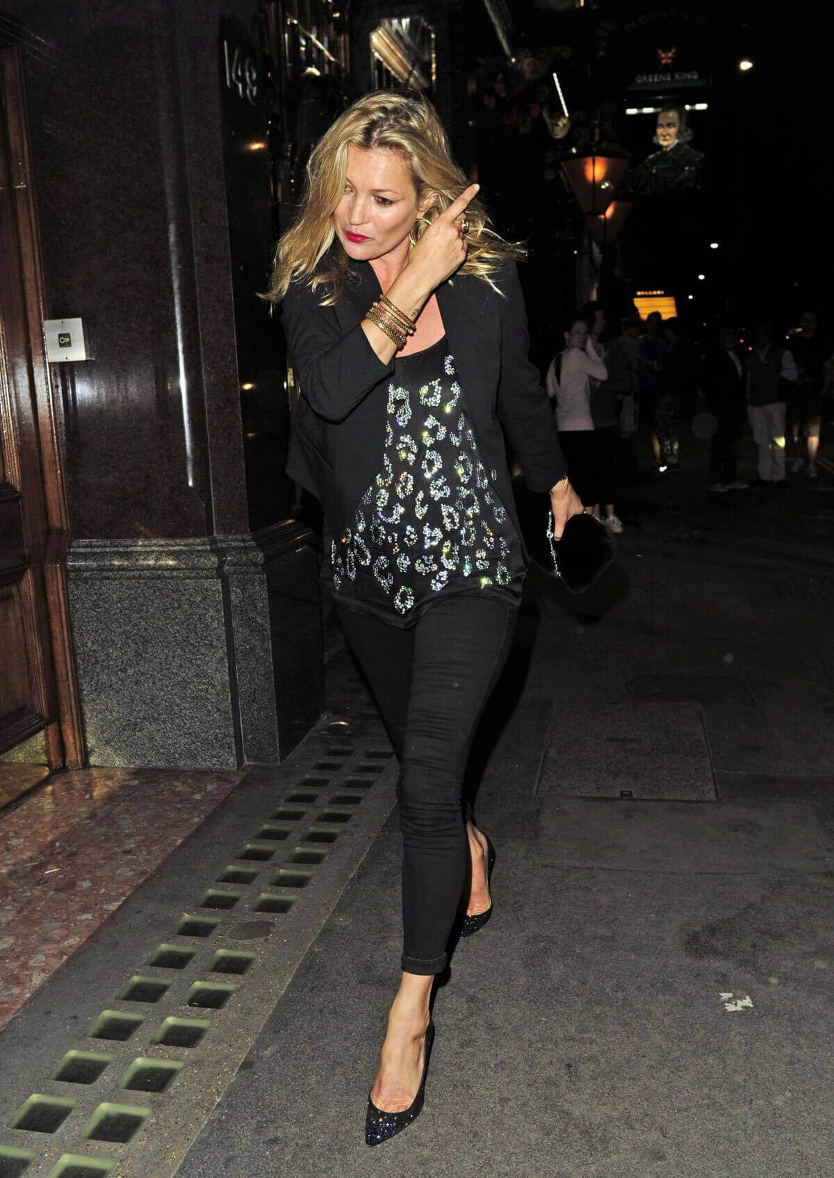Kate Moss at Mr Chows Restaurant in London Photos